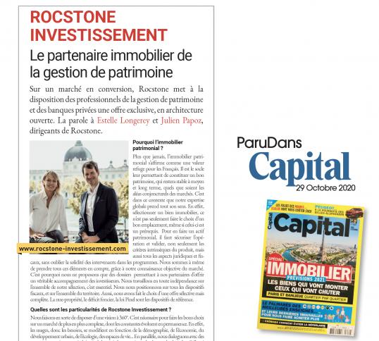 """CAPITAL """" Le partenaire immobilier de la gestion de patrimoine """""""